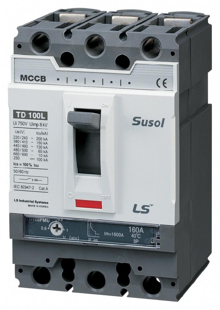 2-х полюсной автоматический выключатель переменного тока